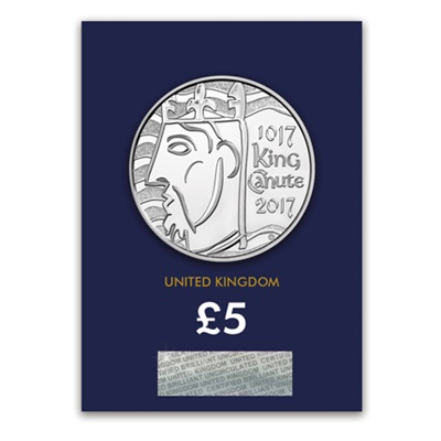 2017 £5 BU Coin (Card) - King Canute